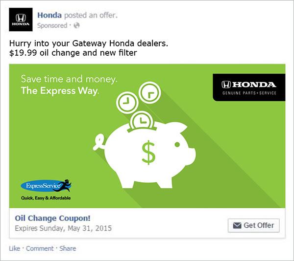 Honda Facebook Ads