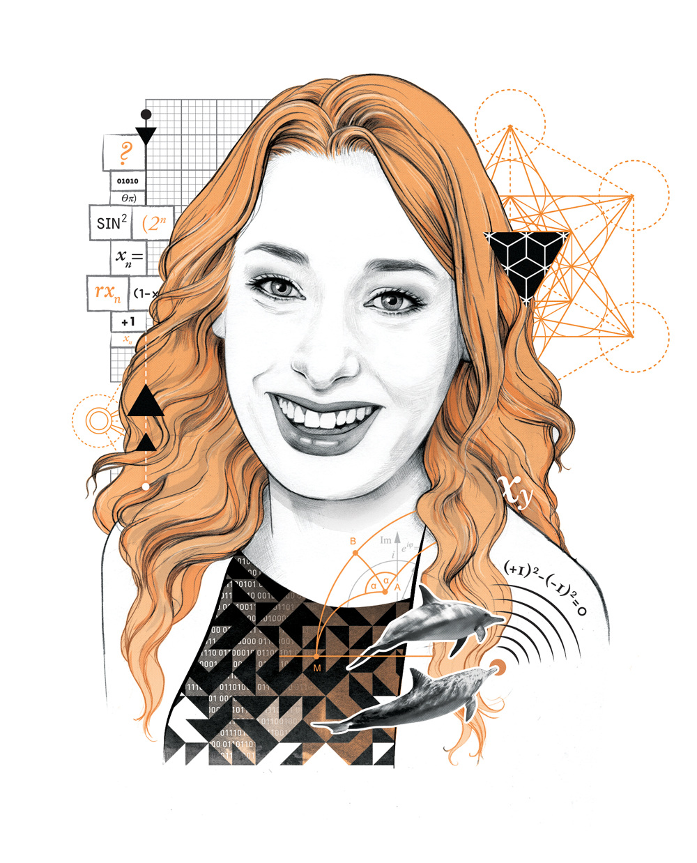 Bbc Focus Portraits Orlagh Murphy Illustration