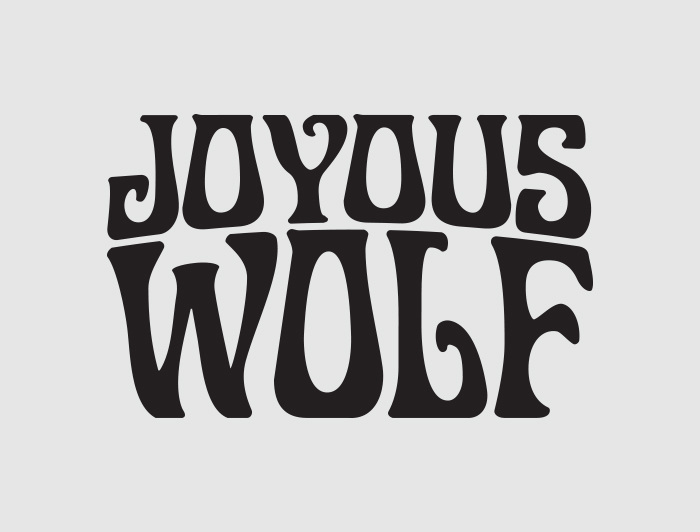 joyous wolf logo cameron agnew graphic design